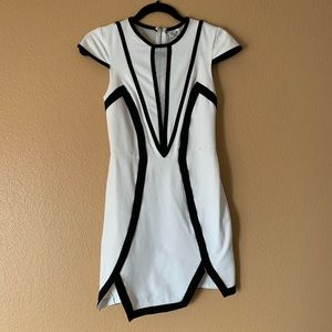 Angel Biba Black & White Dress - Size 8